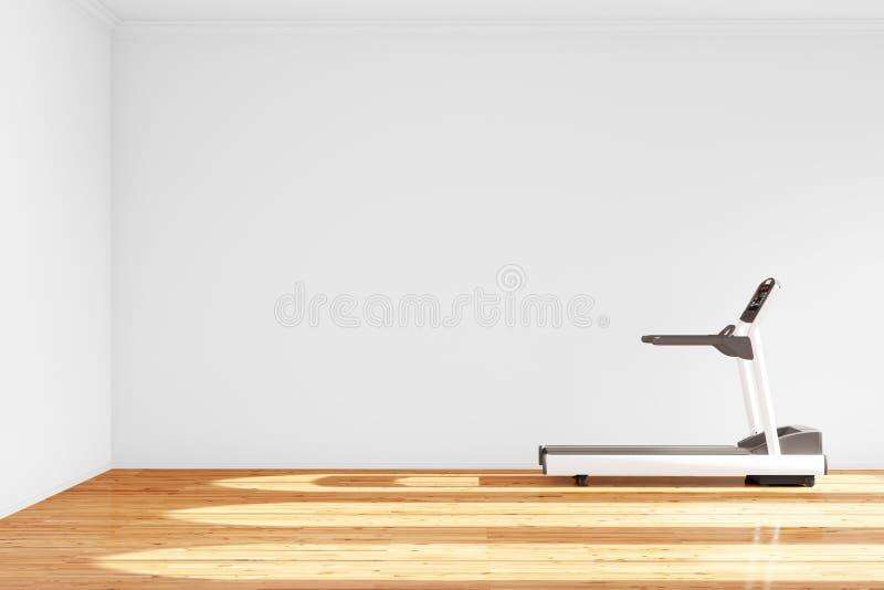 Escada rolante na sala vazia ilustração stock