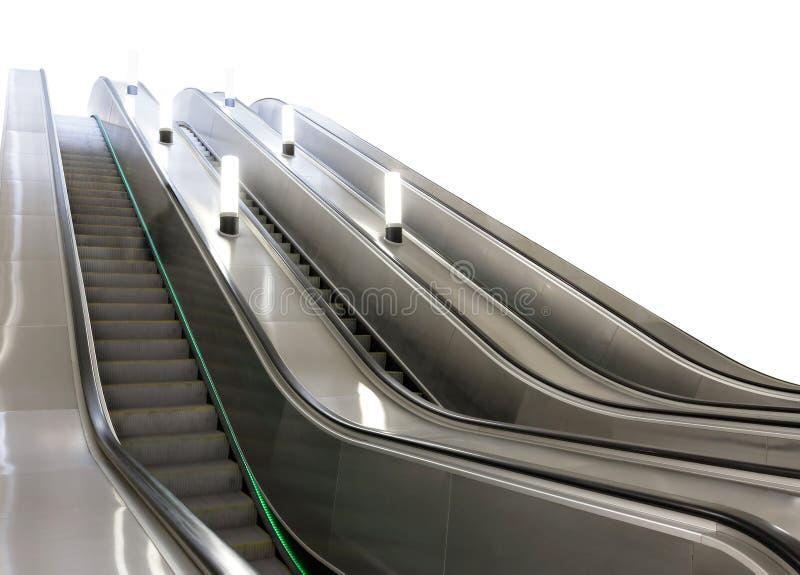 Escada rolante no metro de Moscou foto de stock