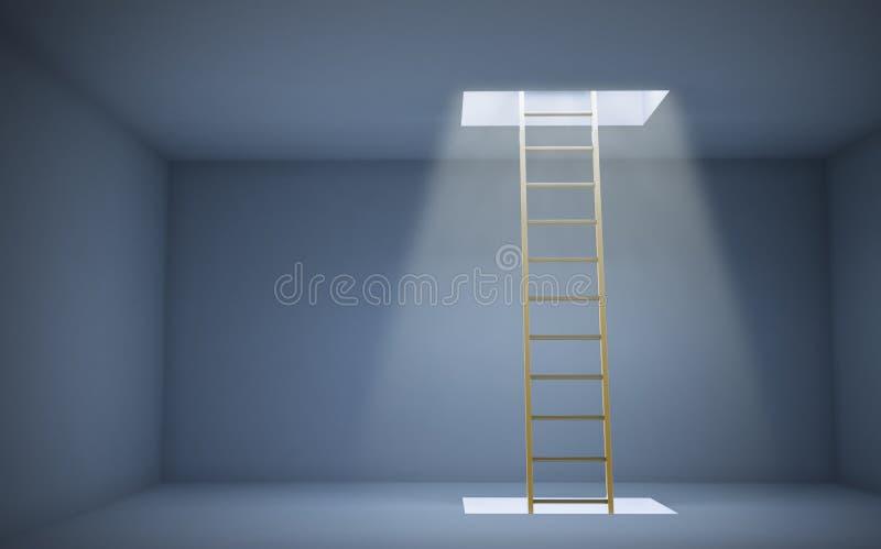 Escada a um de mais alto nível ilustração royalty free