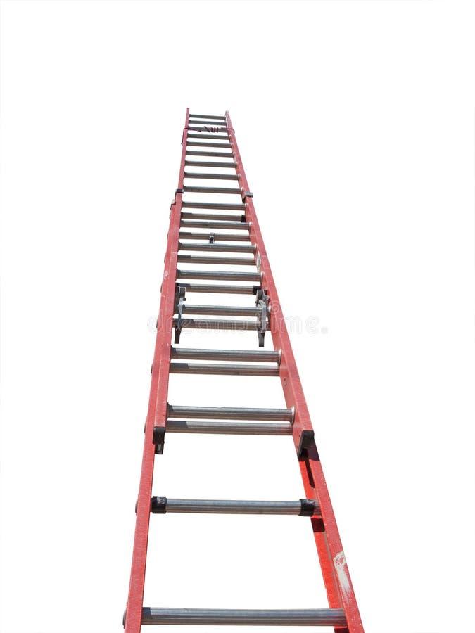 Escada vermelha fotografia de stock
