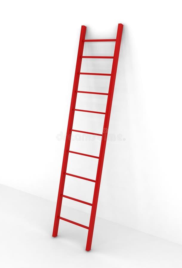 Escada vermelha ilustração royalty free