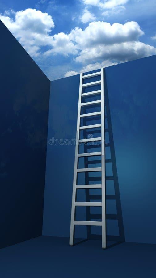 Escadaria à liberdade ilustração do vetor