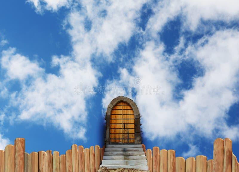 Escadaria à porta do ` s do céu ilustração royalty free