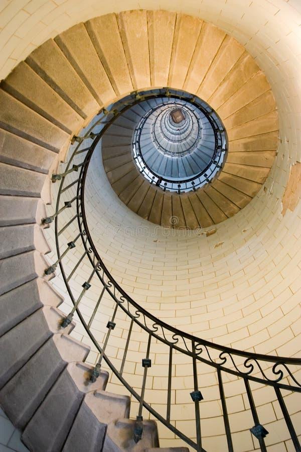 Escadaria 3 do farol imagem de stock