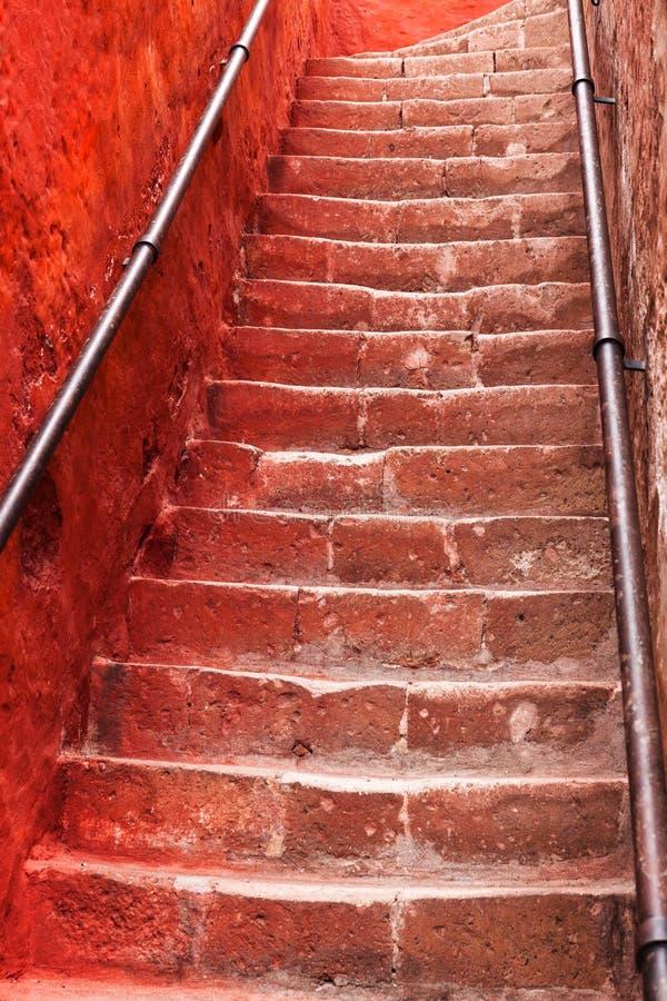 escadaria antiga bonita foto de stock royalty free