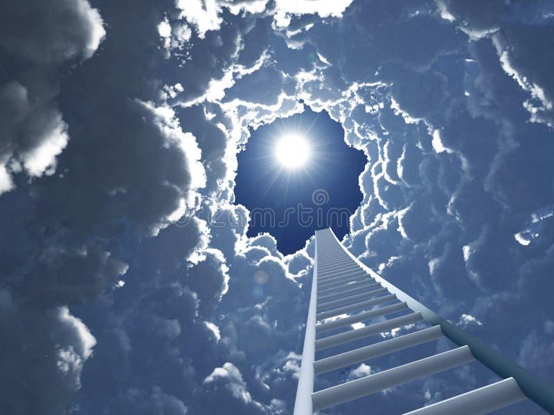Escadaria ao céu ilustração royalty free