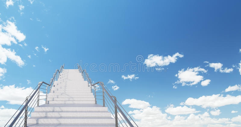 Escadaria ao futuro brilhante imagem de stock royalty free