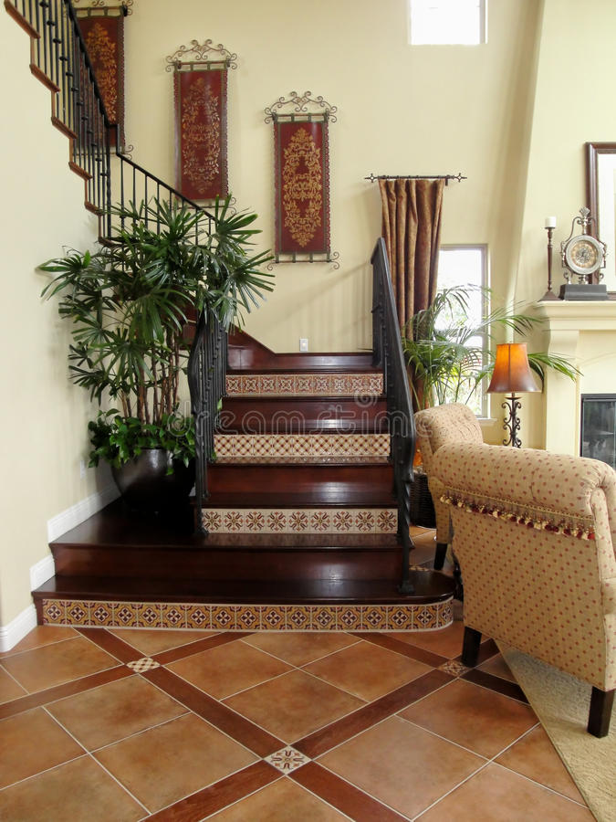 Escadaria bonita foto de stock royalty free