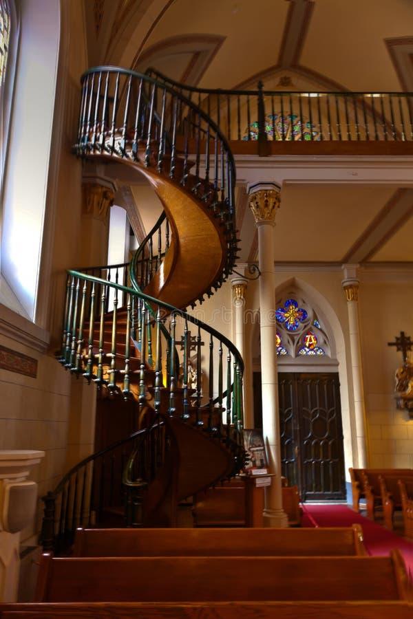 Escadaria da capela de Loretto fotografia de stock royalty free