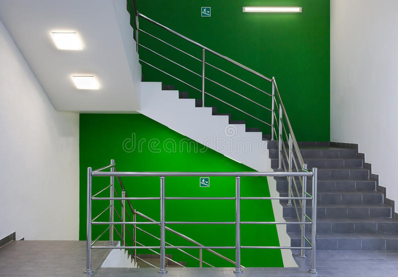 Escadaria da construção fotos de stock