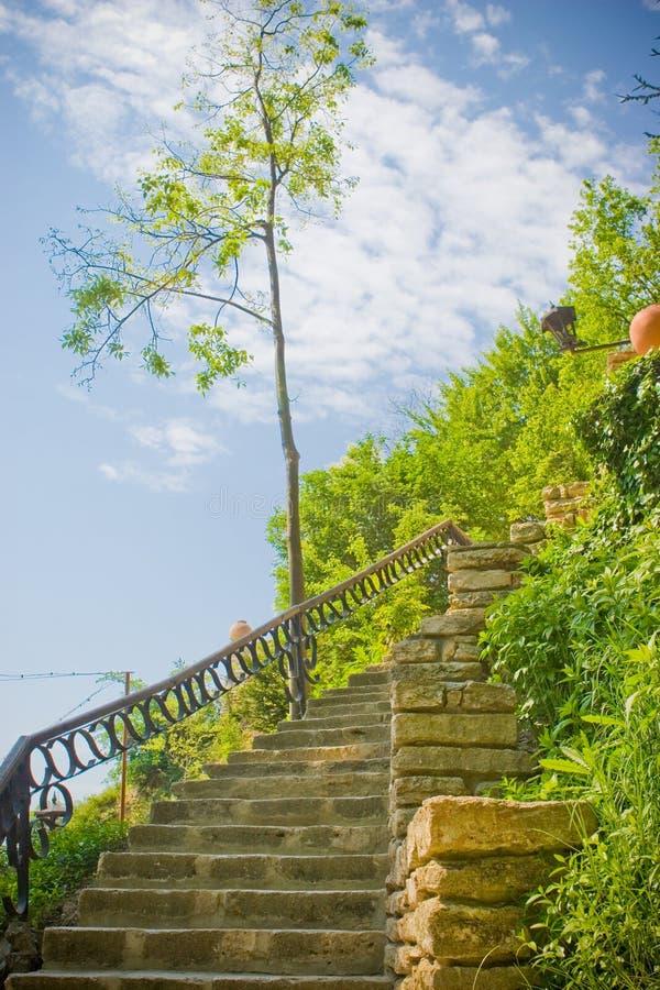 Escadaria da rocha fotos de stock royalty free