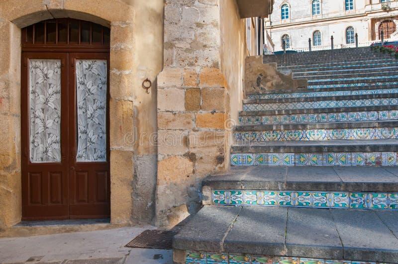 Escadaria de Caltagirone imagem de stock royalty free