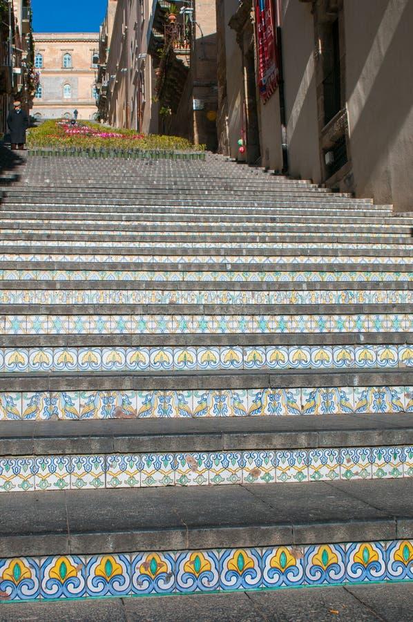 Escadaria de Caltagirone fotografia de stock royalty free