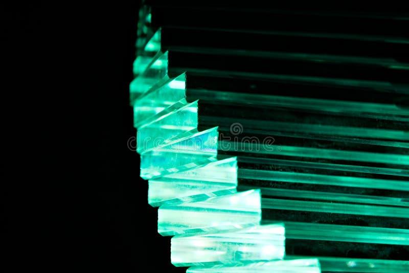 Escadaria de cristal verde foto de stock royalty free
