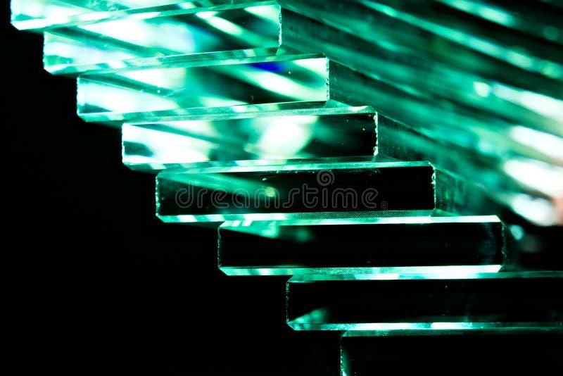 Escadaria de cristal verde fotografia de stock royalty free