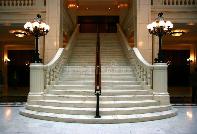 Escadaria de mármore imagens de stock royalty free