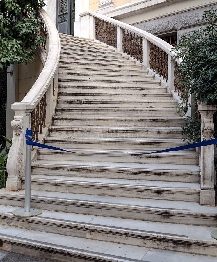 Escadaria de mármore branca fotos de stock