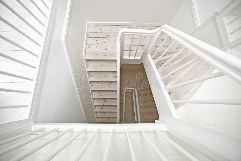 Escadaria de madeira fotos de stock