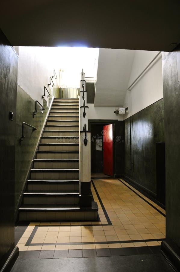Escadaria de Tadelakt em construir A, Kootwijk de rádio, os Países Baixos imagem de stock