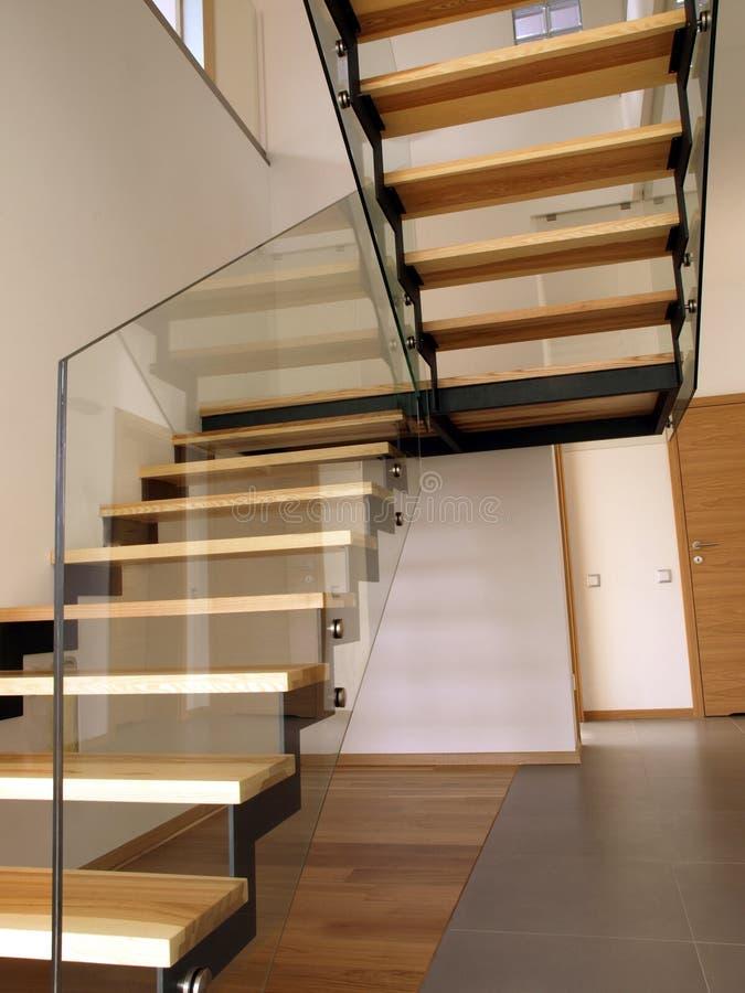 Escadaria de vidro imagem de stock