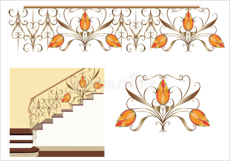 Escadaria decorativa fotografia de stock royalty free
