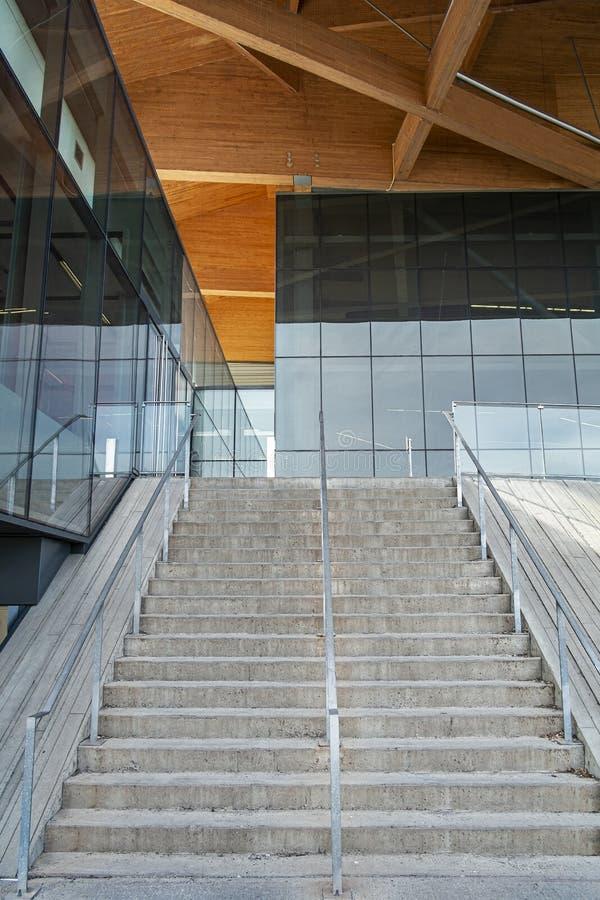Escadaria do estádio de futebol de Montreal imagem de stock