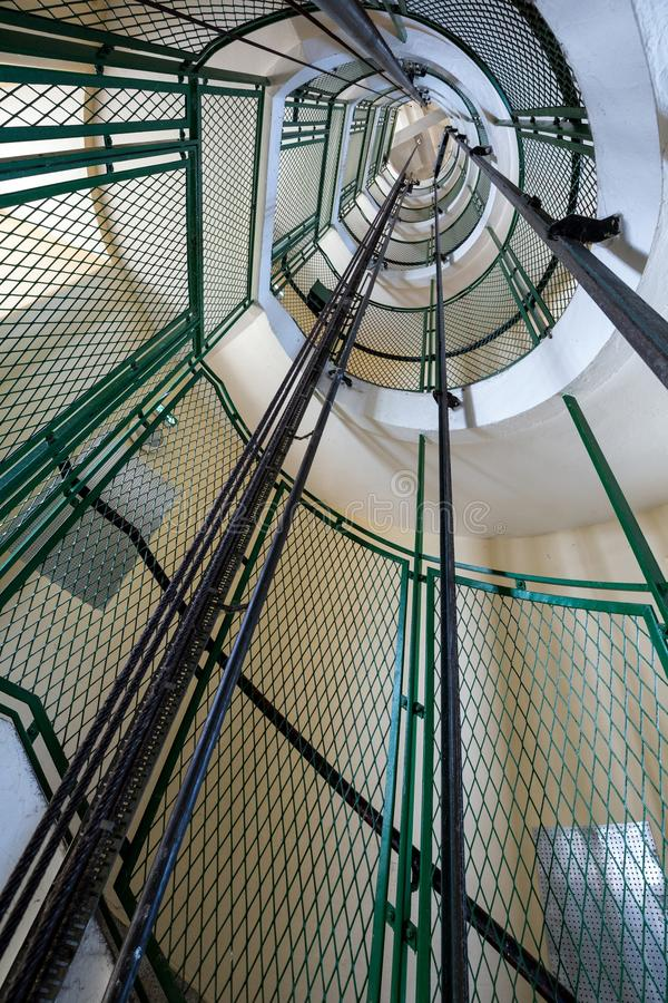 Escadaria do farol fotos de stock royalty free