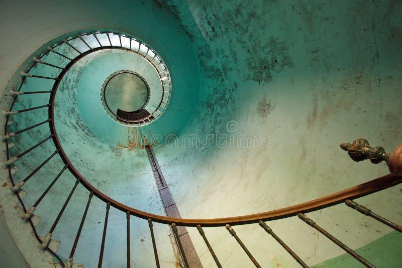 Escadaria do farol foto de stock
