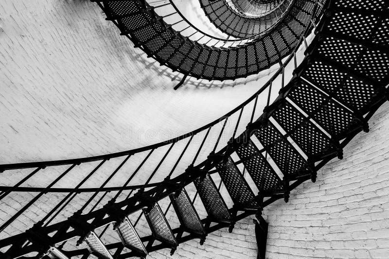 Escadaria do farol do St. Augustine foto de stock