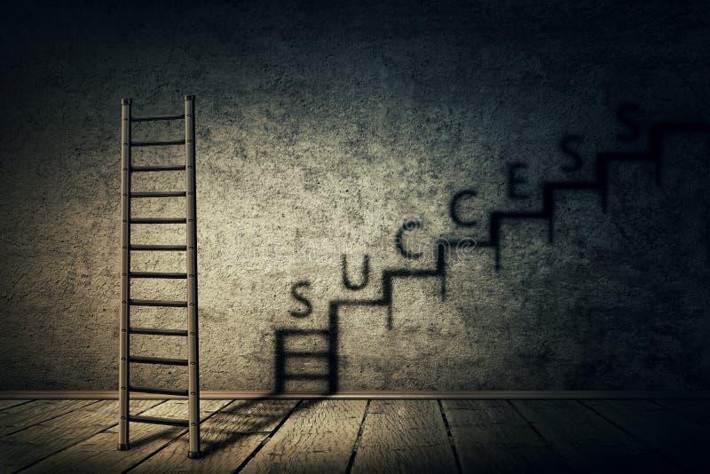 Escadaria do sucesso ilustração royalty free