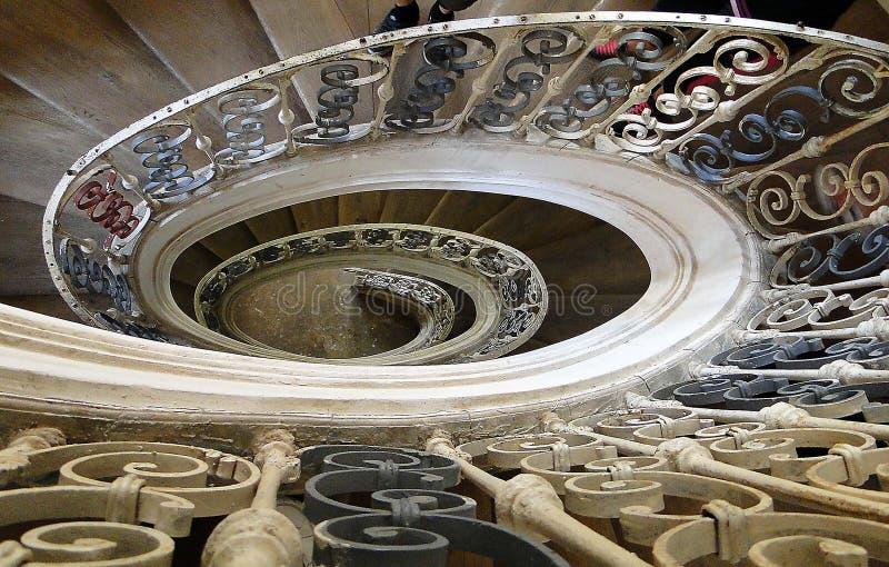 Escadaria elíptica no monastério imagem de stock royalty free