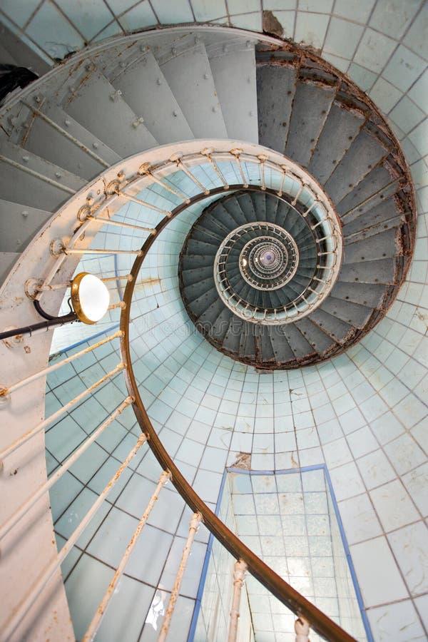 Escadaria elevada do farol fotografia de stock royalty free