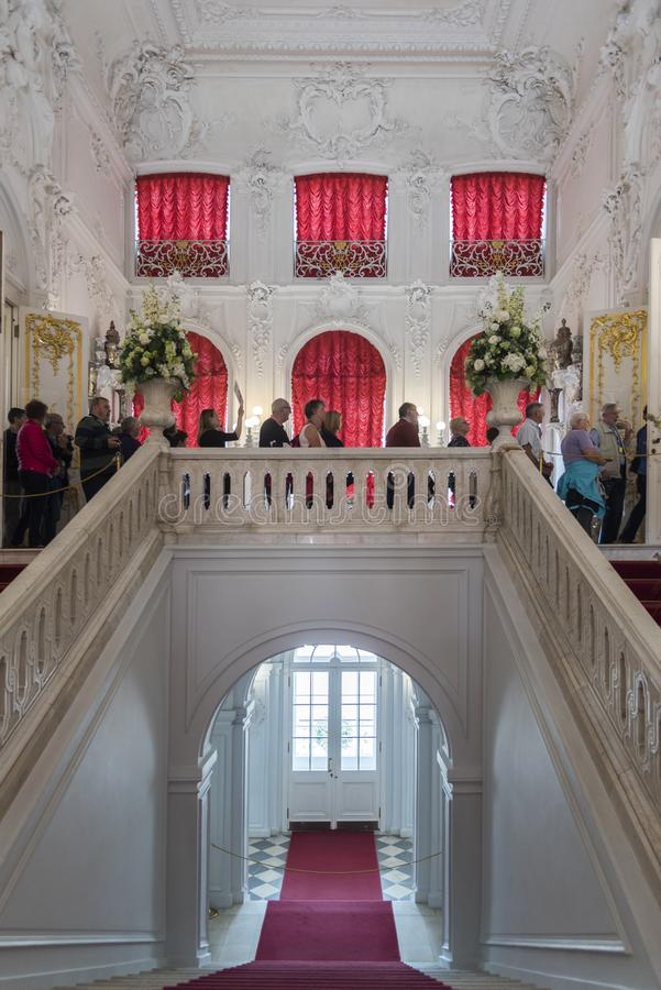 Escadaria em Catherine Palace St Petersburg Russia fotografia de stock