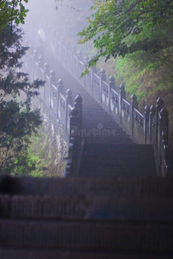 Escadaria em montanhas de Wudang imagens de stock royalty free
