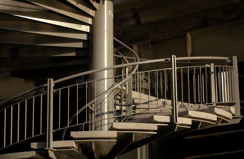 Escadaria espiral fotografia de stock