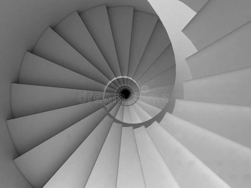 Escadaria espiral ilustração royalty free