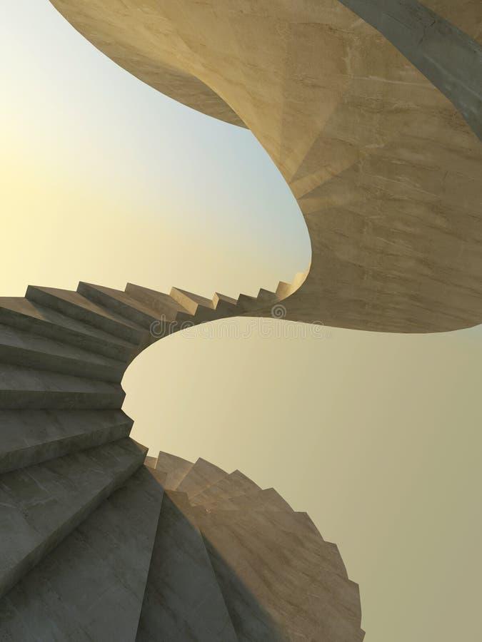 Escadaria espiral abstrata ilustração stock
