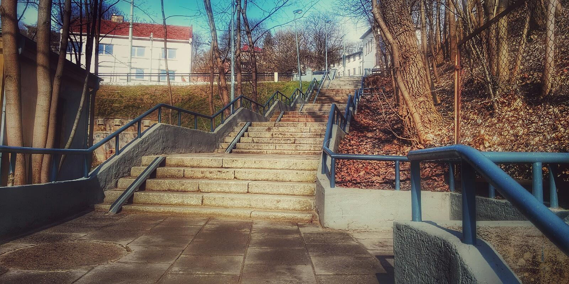 Escadaria fabulosa 1 fotografia de stock royalty free