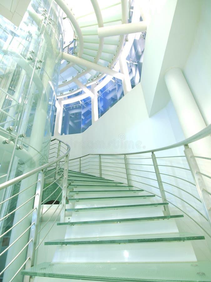 Escadaria feita pelo vidro imagens de stock royalty free