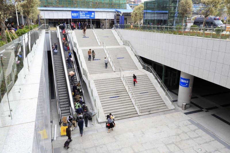 Escadaria grande e escada rolante imagens de stock royalty free