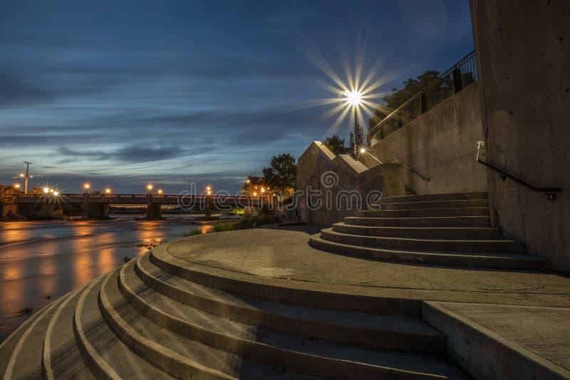 Escadaria iluminada fotos de stock