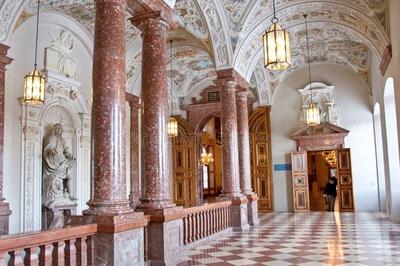 Escadaria imperial, Residenz, Munich, Alemanha fotografia de stock