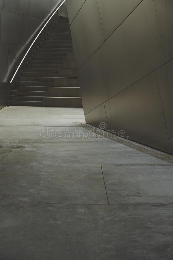 Escadaria interior de Walt Disney Concert imagem de stock royalty free