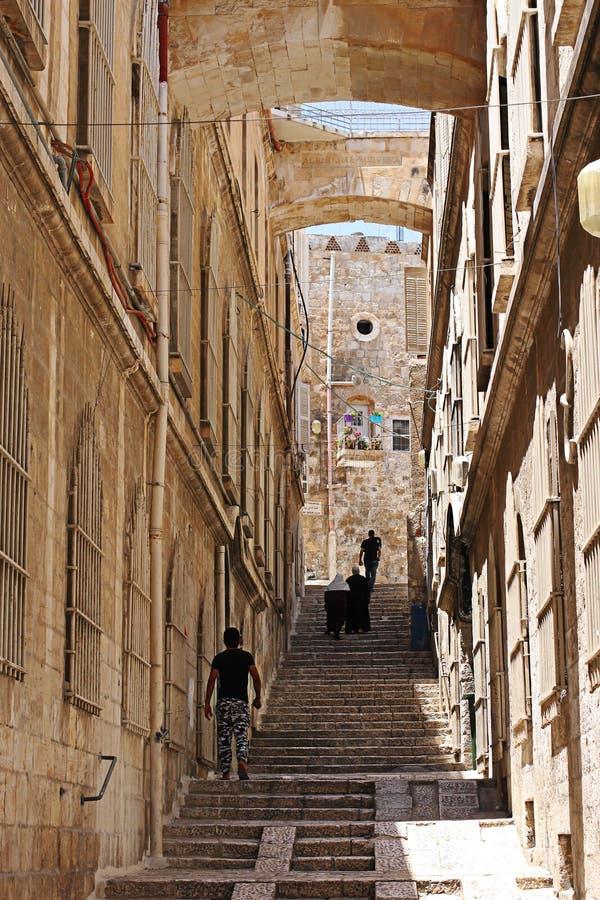 Escadaria no quarto árabe imagem de stock