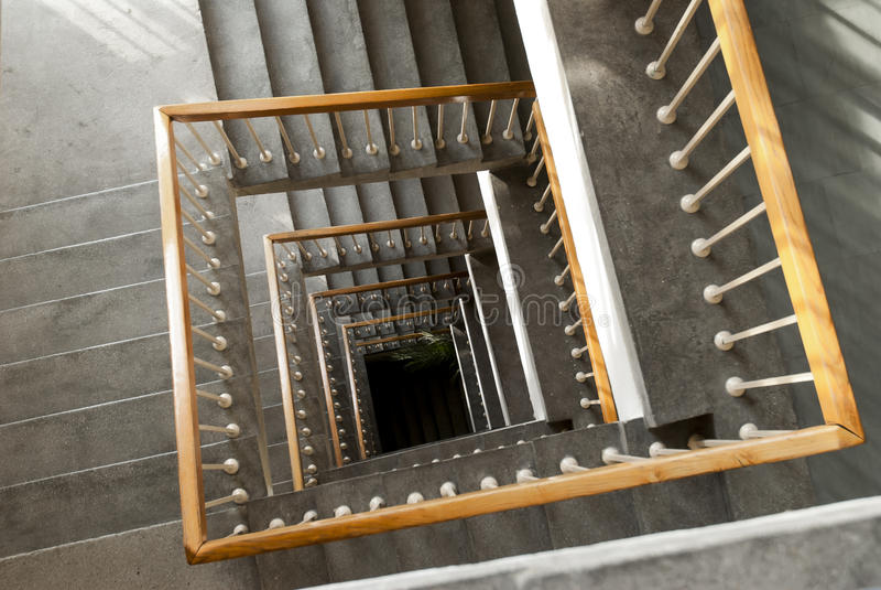 Escadaria quadrada imagens de stock