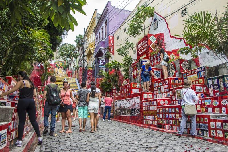 Escadaria Selarón - Rio de Janeiro fotografia stock