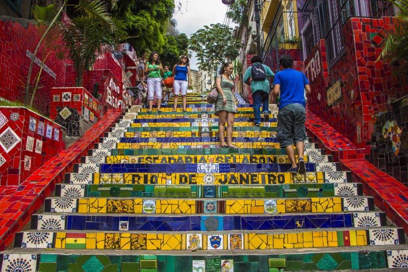 Escadaria Selarón - Rio de Janeiro royaltyfria foton
