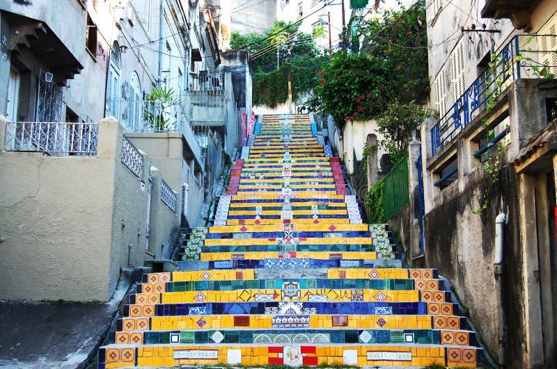 Escadaria Selaron - Бразилия стоковые фотографии rf