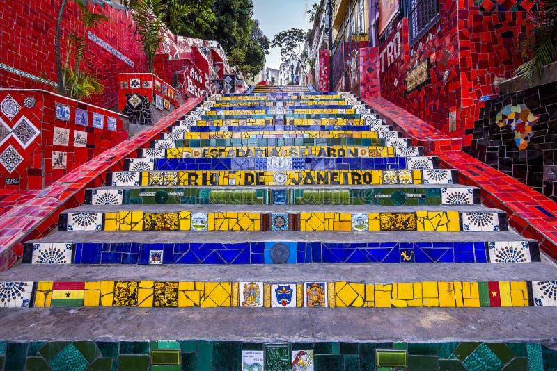 Escadaria Selaron, Рио-де-Жанейро, Бразилия стоковая фотография rf