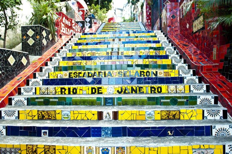 Escadaria Selaron -楼梯Selaron,里约 库存照片